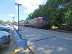 Ballardvale Inbound Commuter Train with Doubledeckers