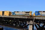 MEC Engine 7585 is the Trailing Unit on Train POED
