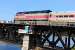 Merrimack River Bridge - MBTA Engine 1057