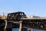 Merrimack River Bridge MEC Engine 7635 Leads Train POED